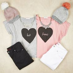 #BestFriends. <3   @snapmade #Customtshirt>https://goo.gl/29CVyO #spring #create #casual #sisters #springoutift #fashion #design #custom #personalized #tshirt #gift #grey #customgifts #girl #pink #outfits #girly #shopping #closet #Snapmade #casualtime