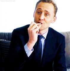 Tom is done talking about Loki. Gif-set (hiddlescheekbatch.tumblr): http://maryxglz.tumblr.com/post/142353199747/hiddlescheekbatch-tom-is-done-talking-about