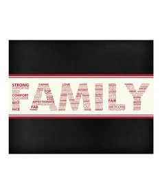 Secretly Designed Words of a #Family #Print on #zulily #typography #art #design