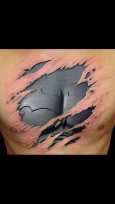 Awesome Batman tattoo - I think this should be my husband next one!!