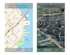 iOS 7 Maps translucent chrome
