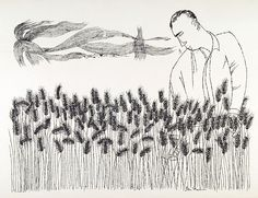 Ben Shahn. Epis. Lithograph, 1969