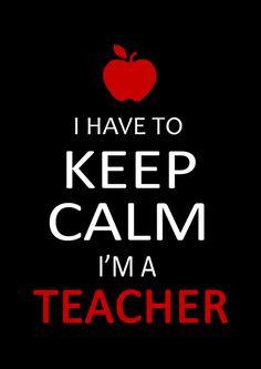 """I Have to Keep Calm, I'm a Teacher"" Unisex T-shirt – We Appreciate Teachers"