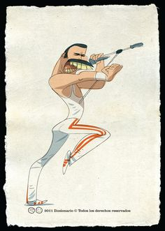 Freddie Mercury: Don't stop me now! Queen Freddie Mercury, Star Character, Character Design, Music Illustration, Queen Art, Music Album Covers, We Will Rock You, Celebrity Caricatures, Concert Posters