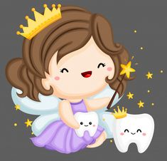 Tooth fairy and magic teeth Premium Vect. Dental Kids, Dental Art, Dental Wallpaper, Dental Images, Free Wallpaper Backgrounds, First Tooth, Album Design, Ink Illustrations, Tooth Fairy