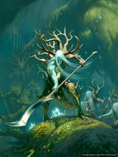Sylvaneth, containing my first Age of Sigmar short story, Heartwood, hit the shelves in-store today. To celebrate, here's the gorgeous cover art in full.