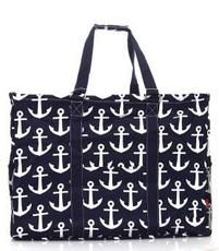 Large Anchor Print Framed Utility Storage Tote $26.95 http://www.sparklyexpressions.com/#1019