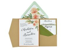 Flower Bouquet - Free Wedding Invitation 5x7 Template Suite