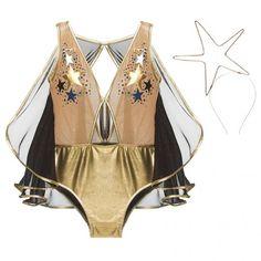A Loungerie já está no clima de Carnaval! Olha esse body em tule e lamê dourado com capa e cabeça de estrela (R$ 279) - clica pra ver mais