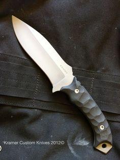 custom knife, curves