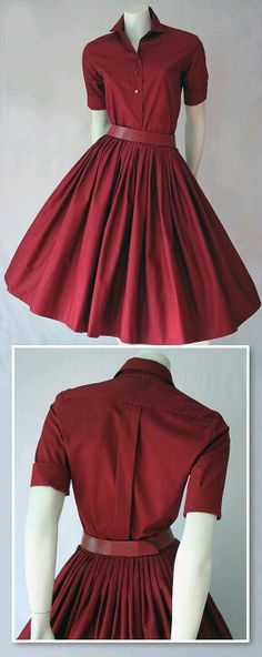 I really like the color of this dress and the style of the blouse, but the skirt is a little to full for my tastes.