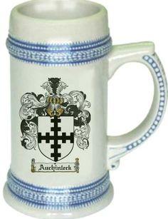 Auchinleck Coat of Arms / Family Crest stein mug