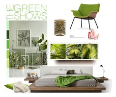 """""""green &declutter"""" by fl4u ❤ liked on Polyvore featuring interior, interiors, interior design, home, home decor, interior decorating, Urban Decay, Dot & Bo, Herman Miller and Hotel Collection"""