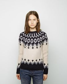 Check out 25 of our very favorite fall sweaters for 2014 and fill your closet up! Icelandic Sweaters, Fair Isle Knitting, Fall Sweaters, Knit Crochet, Knitwear, Golden Goose, My Style, How To Wear, Women
