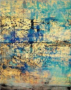 Makoto Fujimura, Golden Sea, mineral pigments & gold on kumohada over canvas, 80 x 64 inches @ Dillon Gallery Action Painting, Modern Art, Contemporary Art, Tachisme, Fractal, Illustration Art, Illustrations, Claude Monet, Pablo Picasso