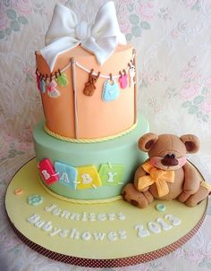 Babyshower Cake via cakes decor cake by once upon a time cakes