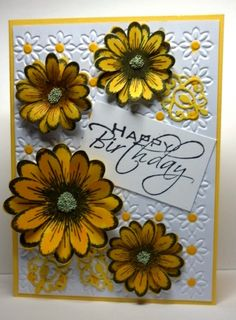 Daisies by poppypoodle - Cards and Paper Crafts at Splitcoaststampers