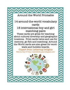 Kids Around the World Printable product from Preschool-Printable on TeachersNotebook.com
