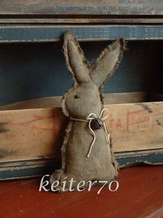 Hey, I found this really awesome Etsy listing at https://www.etsy.com/listing/220781398/primitive-easter-rabbit-bunny