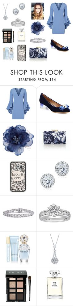 """""""Sem título #913"""" by amorasilvestre ❤ liked on Polyvore featuring Milly, Salvatore Ferragamo, Accessorize, Talbots, Kobelli, Tiffany & Co., Marc Jacobs, BERRICLE, Bobbi Brown Cosmetics and Chanel"""