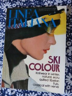 LINEA ITALIANA womens fashion magazine - November 1975 winter ski colour issue - French 70s vintage /  Magazine mode femme LINEA ITALIANA novembre 1975 hiver ski - vintage années 70