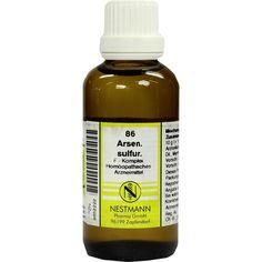 ARSENICUM SULFURICUM F Komplex Nr.86 Dilution:   Packungsinhalt: 50 ml Dilution PZN: 08652222 Hersteller: NESTMANN Pharma GmbH Preis:…