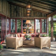 An Architect's Idaho Retreat Capitalizes On The Views Outdoor Seating Areas, Outdoor Spaces, Outdoor Living, Small Yard Landscaping, Landscaping Ideas, Home On The Range, The Ranch, Luxury Living, My Dream Home
