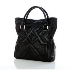 Geo Tote - Textured Black