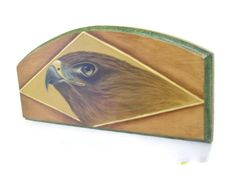 Hand Painted Hawk Plaque - pinned by pin4etsy.com