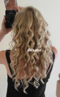 No-Heat Headband Curls: Beautiful curly hairstyle while you sleep! This is one of the best and easiest no heat curl methods. The variation is by Oksana from TLHC. The link has a picture tutorial and instructions for a DIY headband. Hair hair hair =)