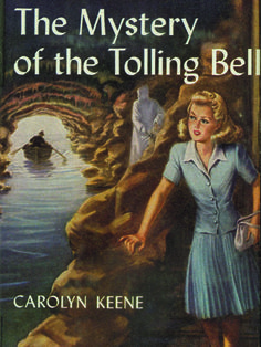 27. The Mystery of the Tolling BellWhile vacationing in a seaside town, Nancy becomes captivated by the townspeople's stories of the moans and apparitions that spill from a cave carved in the jagged wall of the bluff    Read more: Original Nancy Drew Books in Order - Summary of Nancy Drew Mysteries - Country Living