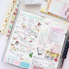 D.I.Y. some cute -n- colorful planner pages