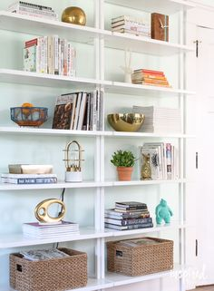 How to Style - Bookcases Fall Home Tour 2015 | Inspired by Charm