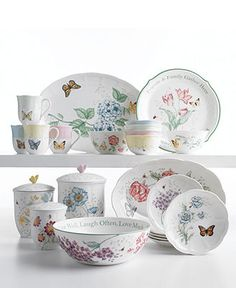 Lenox Serveware, Butterfly Meadow Collection - Casual Dinnerware - Dining & Entertaining - Macy's
