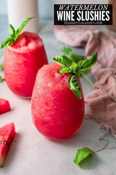 These refreshing 3-ingredient summer cocktails are easy to make and so thirst quenching. Fresh watermelon, white wine and ice are all you need! Wine Slushie Recipe, Wine Slushies, Ripe Fruit, Fresh Fruit, Summer Fruit, Summer Drinks, Margaritaville Frozen Concoction Maker, Watermelon Wine, Moscato Wine