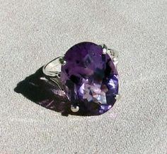 oval cut large amethyst ring