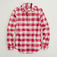 Factory lightweight point-collar shirt in oversize gingham
