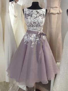 Buy Classic A-line Short Bridesmaid Dress with White Lace Appliques Short Bridesmaid Dresses under US$ 122.99 only in SimpleDress.