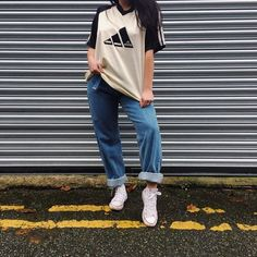 8f843dcd143f ⚠️SALE⚠ VINTAGE 90's Adidas block colour tee UK size on - Depop Color