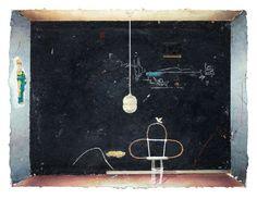 Schwarze Wand, Öl auf Leinwand, 45 x 60 cm, 2013