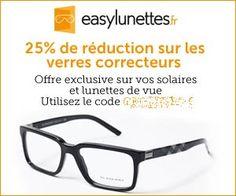 Easylunettes : remise de 25% sur les verres grâce à un code promo