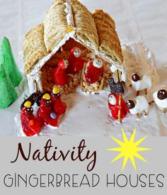 Nativity Gingerbrad Houses are  such a fun way to celebrate the true meaning of Christmas. Create your own with your family and start a holiday tradition.