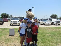 Texas Rangers Mascot, Captain, came by as well!