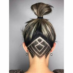 Undercut hair tattoo idea