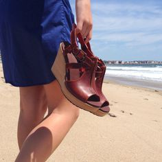 Finally! A wood wedge sandal that's cute and comfortable. #timberland #sandals