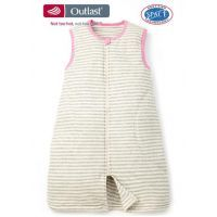 No Sweat Sleeping Bag with Stripes - (18 Months+) - Pink/Grey/Cream