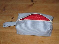 lined boxy make-up bag