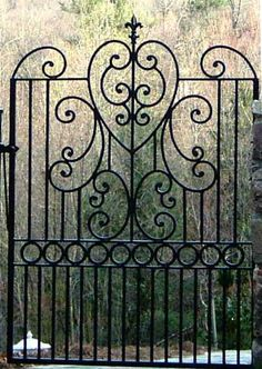 1 of 3 garden gates with puppy guard on Sugar Loaf Mountain Old Gates, Metal Gates, Wrought Iron Gates, Roanoke Virginia, Salem Virginia, Garden Gates And Fencing, Tor Design, Iron Gate Design, Door Gate