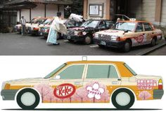 Kit Kat taxis blessed by Shinto priest offer good luck to test-takingpassengers