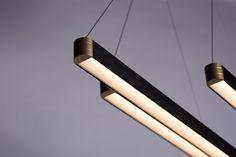 Retta linear LED light a pendant with a new twist on a linear design Linear Lighting, Lighting Design, Light Architecture, Pendant Design, Led, Interior Design, Bespoke, Interiors, Home Decor